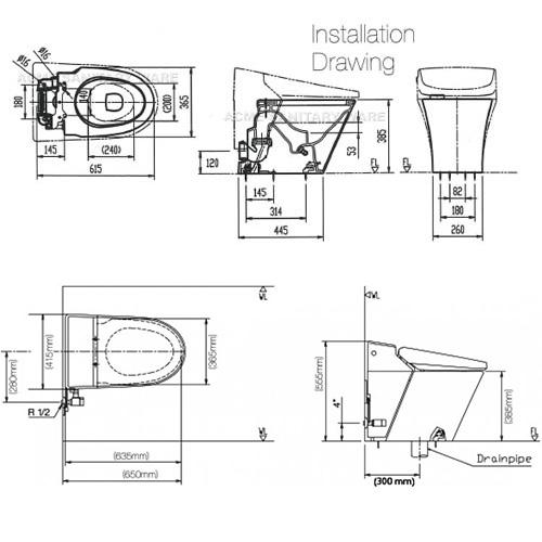 Inax Satis Dv S418vh 低咀智能座廁 4 Smartoilet Hk